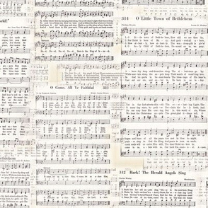 Vintage Christmas Carol Sheet Music