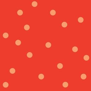 POLKA-DOTS tomato&peach