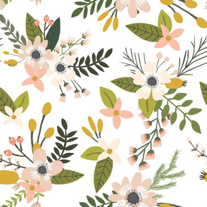 sprigs and blooms // blush // oversized