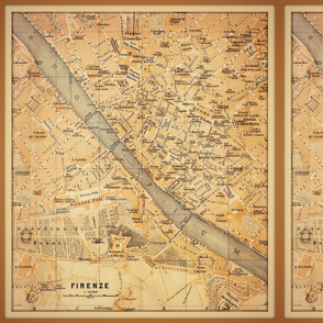 Florence vintage map, small