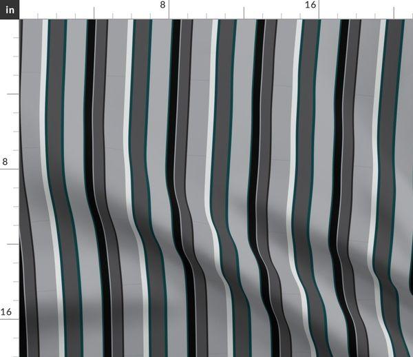 Stoff Meterware Streifen Quilt Grau Petrol Decke Nächtlich