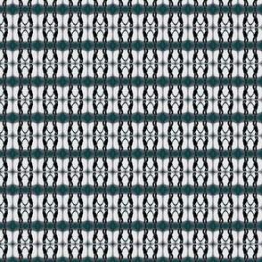 Noucturnal Betty Davis Eyes with Guitar Teal Tweed