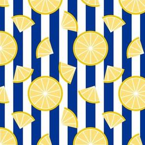 Lemons on Stripes - Navy Stripe