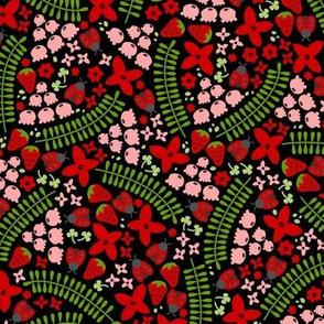 Lovely Ladybugs & Berries (Dark)