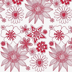 wallpaper red on white