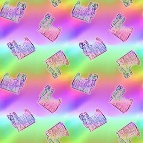 Rainbow tiny Yorkies B
