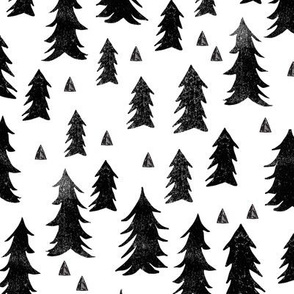 forest trees // black and white minimal baby nursery