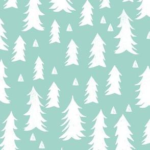 trees // mint forest tree fir tree kids baby nursery sweet trees