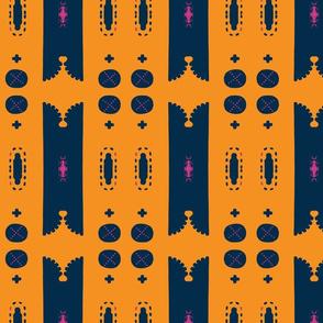 Architectural Elements in Udaipur - indigo, marigold  & pink