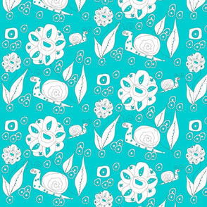 floral_rasberry_solid_and_white