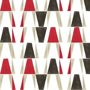 Red and Brown Geometric Watercolor
