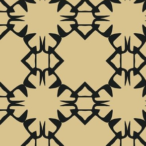 Black and Tan Abstract Grid