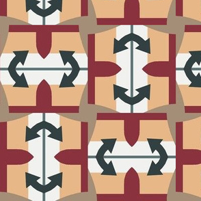 Abstract Arrow Shapes forming Squares