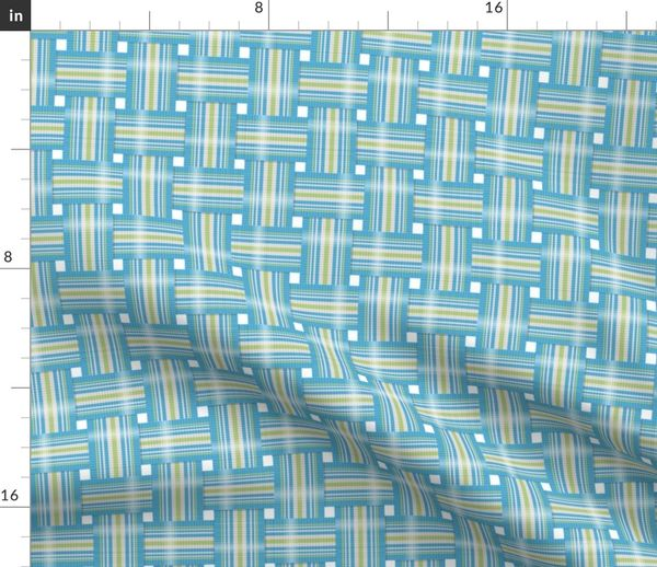 Fabric By The Yard Vintage Lawn Chair Design In Teal And Lime
