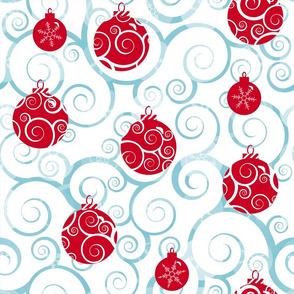 Snowflake Swirl Baubles