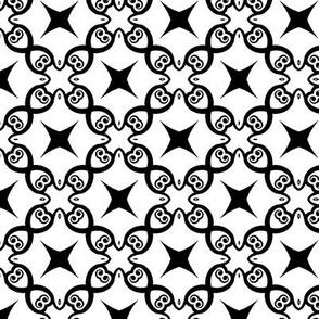 Black and White Lattice and Stars