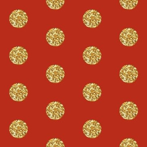 Christmas Red Glitter Dots Beaucoup!