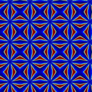 Warp Speed Groovy Red Blue