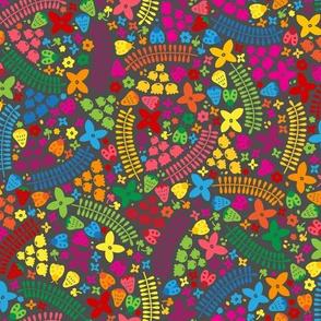 Rainbow Ladybugs and Berries