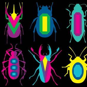 beetle brooches - linear