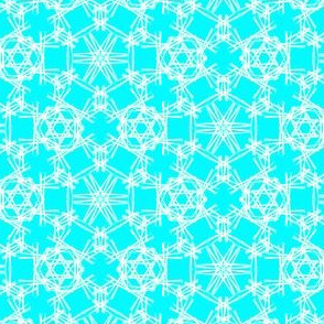Starry Doodle Tropical Turquoise