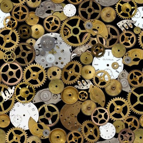 Steampunk Watch Parts on Black