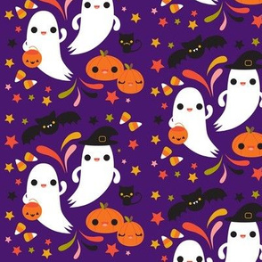 Kawaii Ghosts- Purple