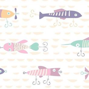 Fishing Lures Pastels