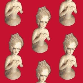 Boudoir Doll on Red