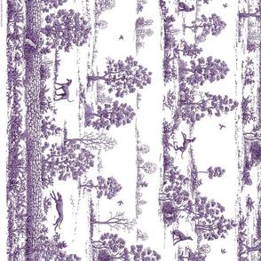 Purple Greyhound Toile Panel/Border ©2010 by Jane Walker