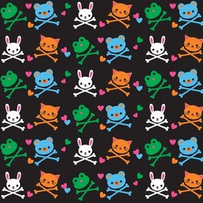 Animal Crossbones Black