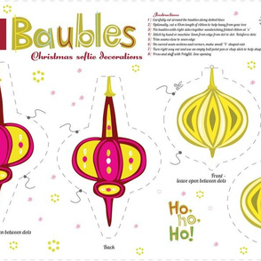 Christmas Baubles Softie Decorations