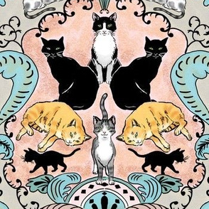 Cats I Have Loved Damask 2