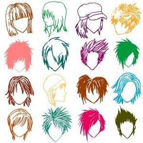 Anime hairstyles
