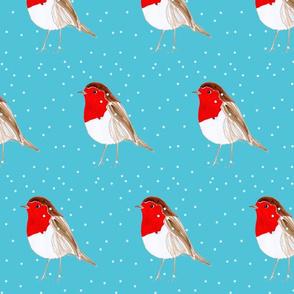 Christmas Robin Blue