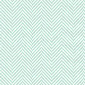 herringbone mint green