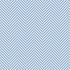 herringbone cornflower blue