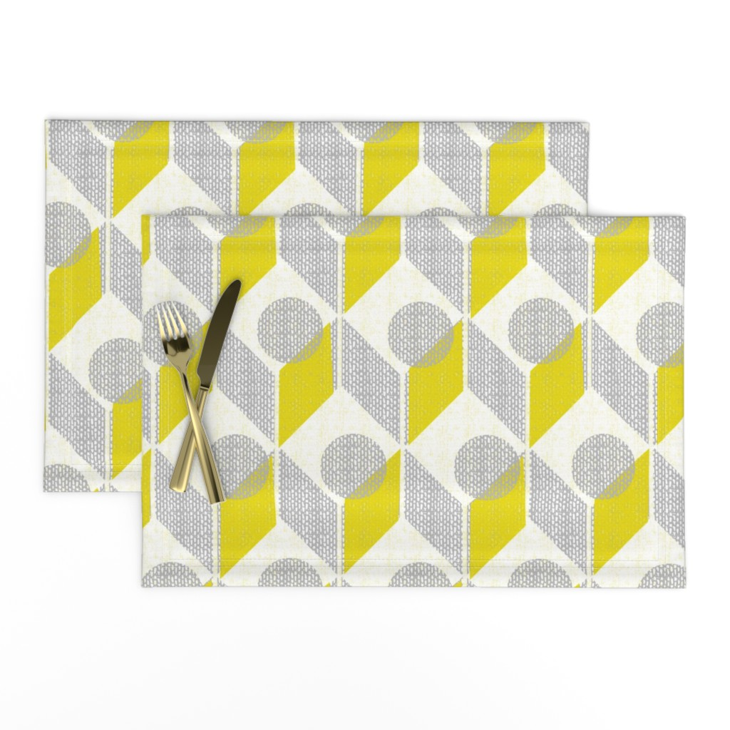 Lamona Cloth Placemats featuring dots on tables-geometric-mid century mod by ottomanbrim