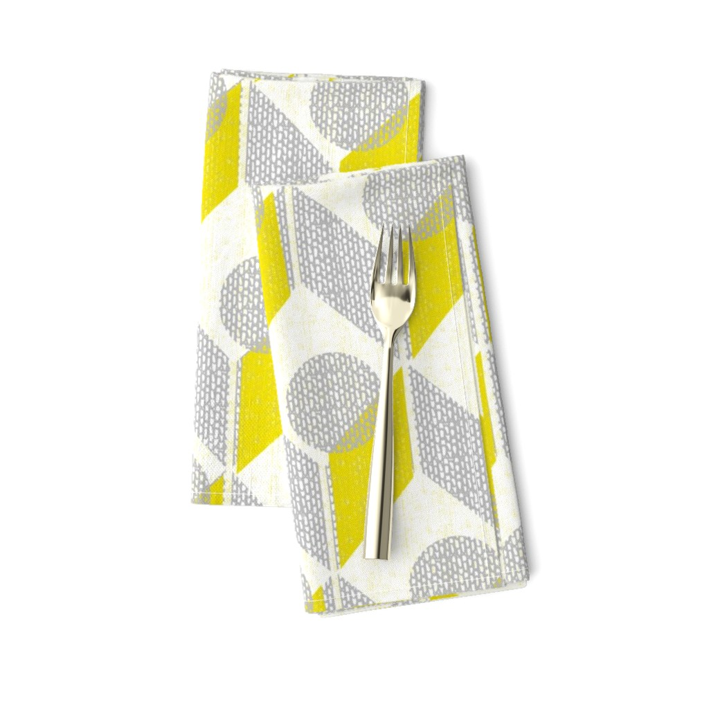 Amarela Dinner Napkins featuring dots on tables-geometric-mid century mod by ottomanbrim