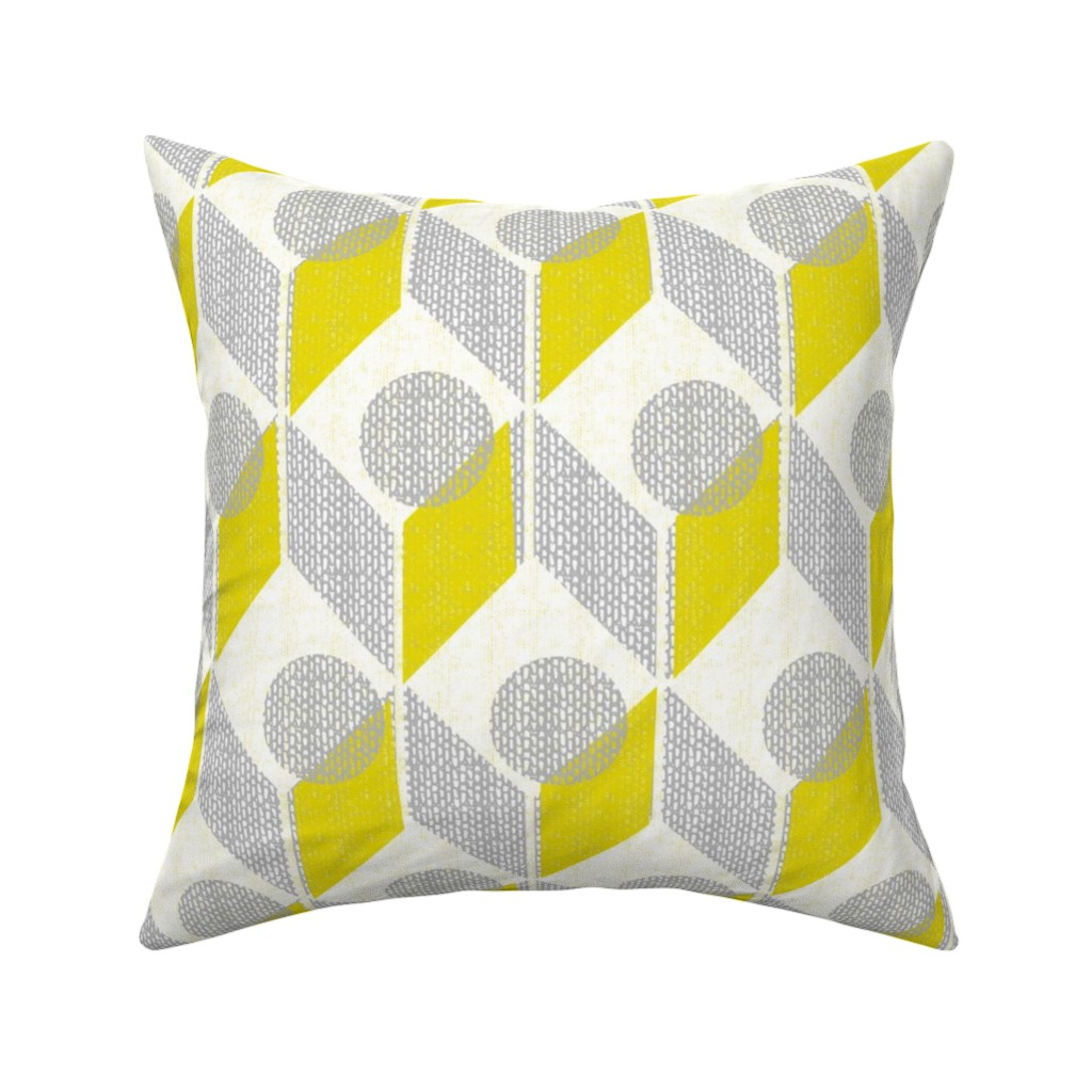 Catalan Throw Pillow featuring dots on tables-geometric-mid century mod by ottomanbrim