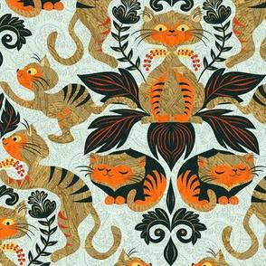 damask-cat-pattern