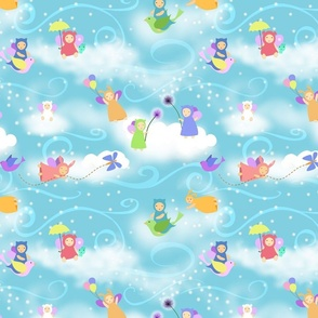 How clouds are made in kawaii
