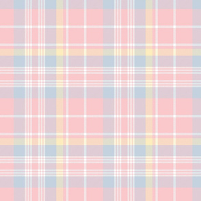 Donmaree Tartan ~ Dauphine, Versailles Fog, Trianon Cream and White