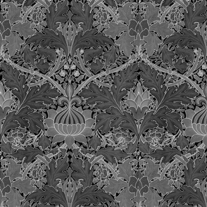 William Morris ~ St. JamesDamask ~ Black