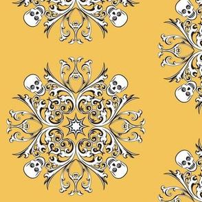 Skull Motif: Yellow