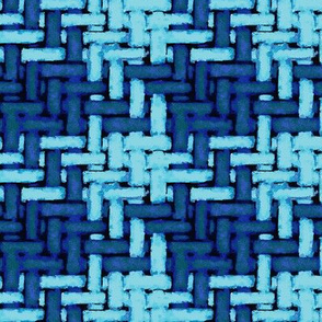 watercolor woven houndstooth -- earthy blues