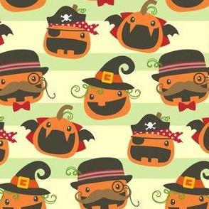 Jack o Lanterns with Stripes