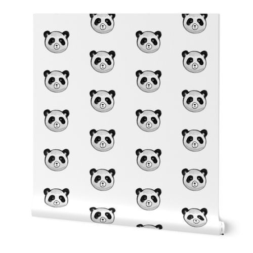 Pandas Small Scale Spoonflower