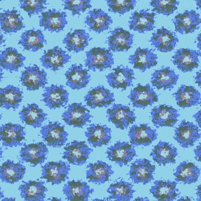 Splatter Flowers in Blue