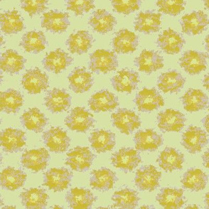 Splatter Flowers in Yellow